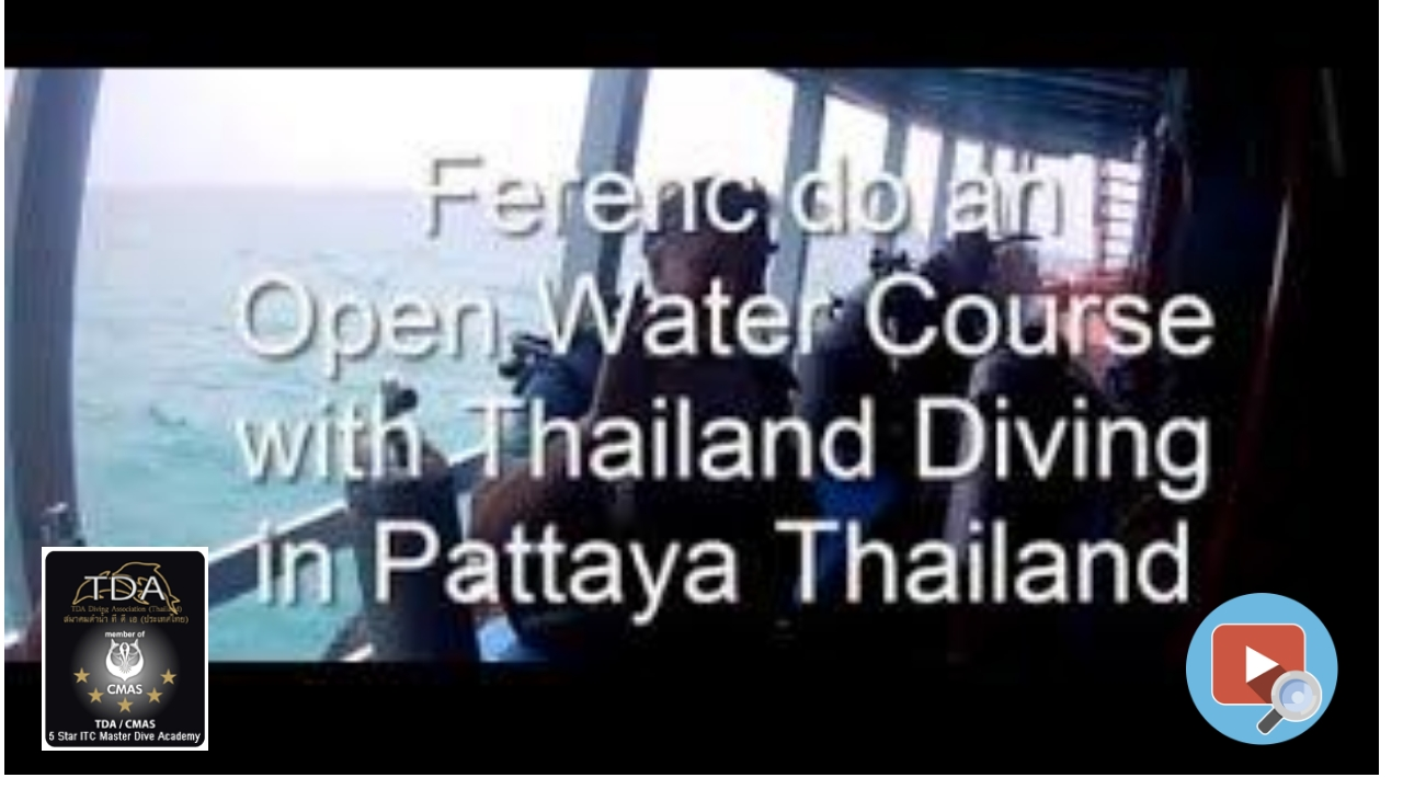 Open Water course in pattaya thailand, with Thailand Diving Club Pattaya